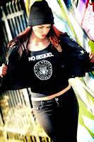 No Sequel Fightwear by Brandon Rizzo, worn by Ashley Nihart.  Photographer: Tracey Harrington